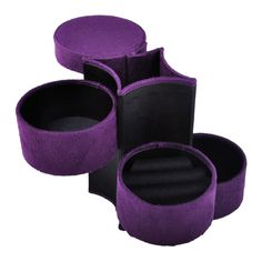 Opentip.com: Aspire Cylindrical Jewelry Box / Jewelry Organizer for Travel - Purple, Gift Idea