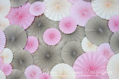 8 Pieces The Party Rosettes Wedding&Party by AgnesMaurice on Etsy, $35.50