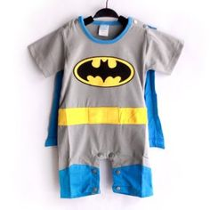 SUPERMAN BATMAN SUPERGIRL BABY TODDLER ALL IN 1 FANCY DRESS OUTFIT ROMPER SUITS WITH CAPE (70: (3-6 months), Batman): Amazon.co.uk: Baby