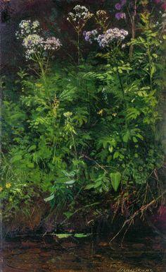 Ivan Shishkin - Wildflowers near the water