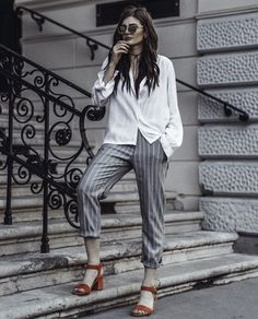 choker-with-button-down-shirt-and-cuffed-pants