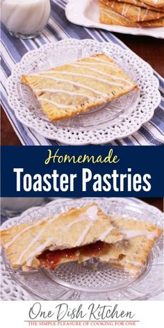 If you love pop-tarts, you'll love this homemade Toaster Pastries recipe! Easily made with refrigerated pie crust, filled with Nutella or your favorite jam and baked in the oven. Just like the toaster pastries you can buy at the grocery, only better! Summer Dessert Recipes, Brunch Recipes, Delicious Desserts, Snack Recipes, Yummy Recipes, Recipies, Snacks, Cooking For One, Meals For One