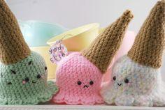 Cayó el helado cono Crochet Pattern por youcute en Etsy, $3.50