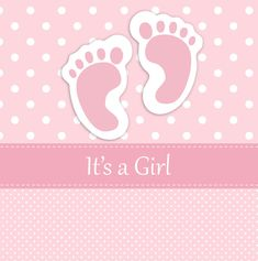 Baby Girl Footprints Card Free Stock Photo - Public Domain Pictures