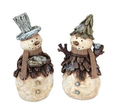 Snowman Figurine #tree #pinecone #winter #natural #nature #Christmas
