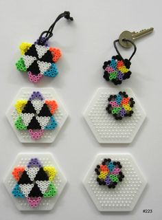 Inspiration for playing with Hama Beads Perler Bead Designs, Hama Beads Design, Perler Bead Templates, Fuse Bead Patterns, Perler Patterns, Beading Patterns, Perler Beads, Fuse Beads, Bead Crafts