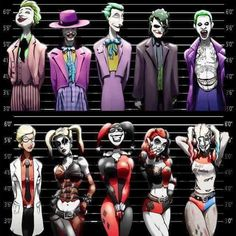 Joker, Harley Quinn, Riddler, and Penguin 4 Prints at discount price. - Joker und Harley Quinn Line-Ups. 2 11 x 17 Drucke von Epicwee - Bd Comics, Marvel Dc Comics, Birds Of Prey, Joker Kunst, Art Du Joker, Harley Quinn Et Le Joker, Harley Queen, Comic Art, Comic Books
