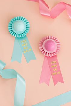YOU ARE SO BALM, EOS lip balm prize ribbon, for both Mother's Day AND Teacher Appreciation Day.   like-the-cheese.com