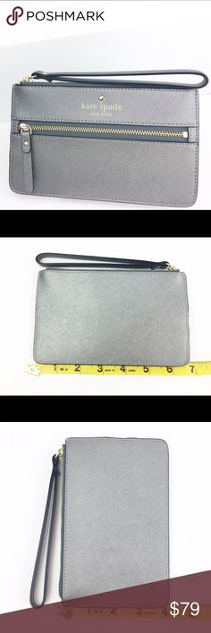 """Kate Spade Mikas Bee Wallet/Wristlet  Anthracite Kate Spade Mikas Pond Bee Wallet/Wristlet  Color: Anthrocite (metal gray)  Condition: New with tags  Size: 4x6"""" Purchase Details:            ❌Trades❌ ⚡️We ship next day ⚡️ kate spade Bags Clutches & Wristlets"""