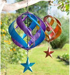 Hanging Metal Spiral Spinner in Housewares