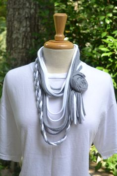 Upcycled TShirt Scarf by AcornHillHome