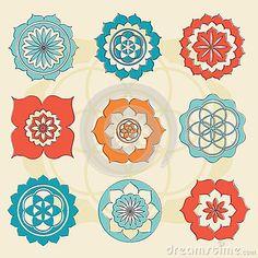 Sacred geometry flower of life symbols by Repkina Elena, via Dreamstime