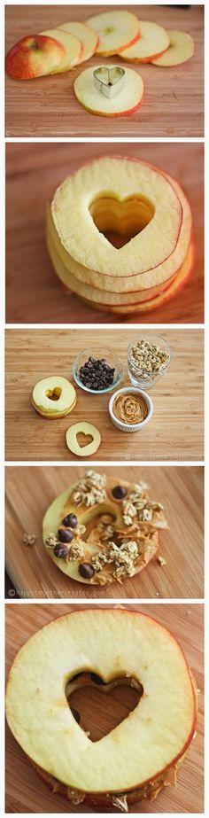 Apple Heart Sandwiches - RedStarRecipe