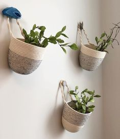 Maritime stitched hanging baskets This listing is for a Maritime Hanging Basket. The basket neasures 8 x 7 Please leave your thread color preference at checkout Navy Grey Black Basket Planters, Hanging Planters, Fall Planters, Home Decor Sets, Rope Crafts, Rope Basket, Basket Decoration, Baskets On Wall, Decorative Hanging Baskets