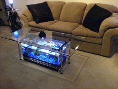DIY fish tank coffee table - living room