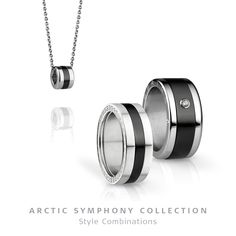 Arctic Symphony Collection - ring and necklace; BERING jewellery; Twist &…