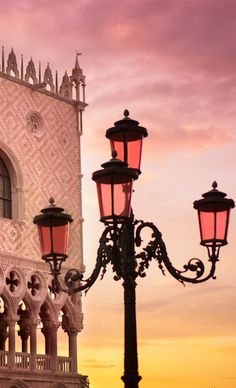 Doges Palace at sunrise... Venice, Italy.