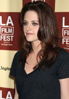 She dyed her hair dark for her role as Bella Swan in the Twilight Saga and has yet to go back to her natural roots.  While we think Kristen Stewart's dark hair goes well with her mysterious persona, we think that her blonde hair does a better job of softening her features.