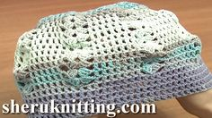 CROCHET SCARF WITH HAT Tutorial 4 Part 3 of 3. http://www.sheruknitting.com/sherufashion/crochet-and-knitting-clothes/item/691-crochet-scarf-with-hat.html  Free crocheted scarf patterns, crochet lace scarf, how to crochet summer scarf for beginners, easy to crochet scarf tutorial with beginner crochet instructions.