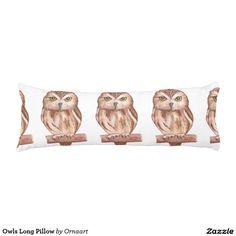 Owls Long Pillow Body Pillow
