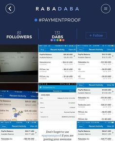 Check out the #Rabadaba App The #paymentproof is blowing up today on the @rabadaba_app #getmoney #getpaid