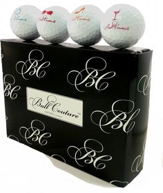 Playing a classic game of golf may require a more elegant approach. That is where our white Ball Couture golf ball comes into play. Want a high performance golf ball in a white version the Ball Couture has you covered.    ·White golf ball with colored signature icons    ·65 compression golf ball made for swings between 65—95 mph    ·PHSC (Power, High speed, Core technology) produces a softer feel    ·Suryln cover made from RuVix technology ensures golf ball durability    ·312 Dimple…