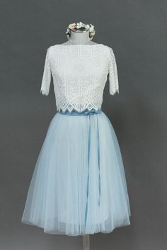 Tulle skirt, short in blue for the wedding- Zoe – noni – wedding dresses and wedding … - Chiffon Dress Wedding Dress Accessories, Blue Wedding Dresses, Tulle Wedding, Bridesmaid Dresses, Boho Wedding, Blue Dresses, Fashion Accessories, Wedding Ideas, Silk Chiffon