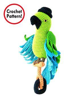 Parrot Crochet pattern, Amigurumi Parrot, Parrot amigurumi pattern, crochet Parrot doll, Amigurumi, Parrot toy  #crochetdoll #crochetpattern #amigurumi #handmade;