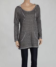 Black Pocket Pullover Hoodie by TROO #zulily #zulilyfinds