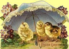 Vintage Easter Cards | Vanhanajan pääsiäistervehdykset ovat aivan ihania,