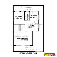 House Plan For 25 Feet By 52 Feet Plot Plot Size 144
