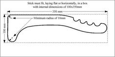 Image result for underwater hockey stick dimensions