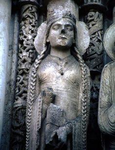 Left Jamb Figures- Detail West Facade, Central Portal, Chartres