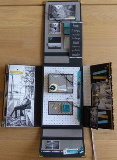 Album Photo Scrapbooking, Mini Albums Scrapbook, Scrapbook Pages, Diy Mini Album, Mini Album Tutorial, Envelope Art, Ideias Diy, Diy Crafts For Gifts, Album Book
