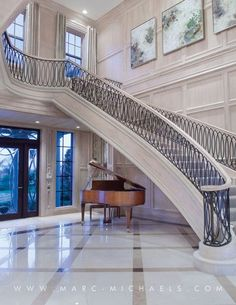 time a lot of us spend in the house, it's a shame most of us reside in little, boring residences or houses. If home is where the heart is, these interior design concepts will certainly… Continue Reading → Luxury Staircase, House Staircase, Interior Staircase, Stairs, Staircases, Grand Staircase, Railing Design, Staircase Design, Luxury Home Decor