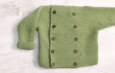 Video Tutorial NOTAS: Tejer todo el jersey con punto bobo, musgo o santa Clara (Todas las hileras al derecho)Hojales: Hacer una lazada en el lugar donde vaya el botón. Tejer la lazada en la siguiente hilera al derecho  1 AÑO Montar 70puntos