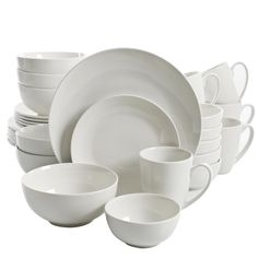 Looking for Gibson Home Ogalla 30 Piece Dinnerware Set, White ? Check out our picks for the Gibson Home Ogalla 30 Piece Dinnerware Set, White from the popular stores - all in one. Stoneware Dinnerware Sets, Bone China Dinnerware, Square Dinnerware Set, Casual Dinnerware, White Dinnerware, Porcelain Dinnerware, Tableware, Kitchenware, Dinnerware Ideas