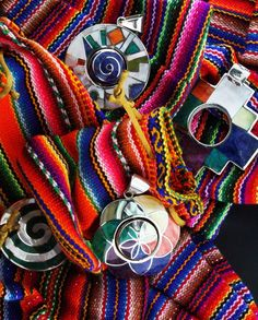 Authentic, handcrafted Peruvian Sterling Silver jewelry of tradtional designs, every piece hand-picked from a local artisan jeweler in the Sacred Valley by Imara for quality and energy.  Pendants, Bracelets, Earrings using natural local Peruvian stones & gems, all set in 950 sterling.
