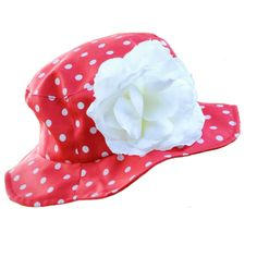 'Strawberries 'n' Cream' - Protect precious little heads, faces and necks with these fashionably styled, hand-crafted, wide-brim designs in breathable cotton fabric. Featuring a Velcro chin-strap to secure the hat in place and specially treated to provide a high UPF protection, blocking up to 98% of harmful rays emitted by the sun.   Available in three sizes from 3m to 4yrs, in a vibrant array of colours and patterns, with exquisite embellishments to suit every occasion.