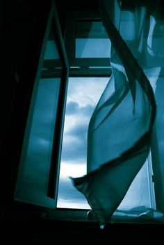 be blue by the window