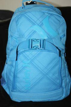 df78e436b53 Hurley Blue Backpack Computer Bag School Supplies Skate Straps New   eBay Computer  Bags, Hurley