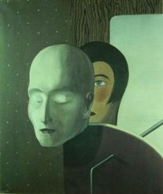 MAGRITTE - He Is Not Speaking (Il ne parle pas) 1926-  René Magritte : More At FOSTERGINGER @ Pinterest