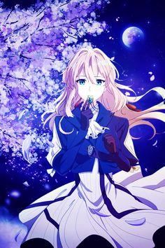 Miss Violet Evergarden Kyoani Anime, Anime Shojo, Sad Anime, Anime Art, Violet Evergarden Wallpaper, Violet Evergreen, Violet Garden, Violet Evergarden Anime, Anime Triste