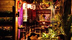 Bosozoku is an outlaw biker gang themed joint with Mario Kart battles, karaoke rooms and a dry ice spa. Dry Ice, Mario Kart, Karaoke, Playground, Melbourne, Concrete, Tokyo, Biker, Spa