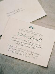 Signora e Mare calligraphy - french wedding invitation