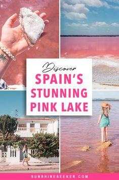 Check out Laguna Salada de Torrevieja - A stunning pink lake in Torrevieja, Spain. Where to find the pink lake + why you should add it to your bucket list now spain Discover Spain's pink lake – Laguna Salada de Torrevieja Spain Travel Guide, Travel Tips For Europe, Backpacking Europe, Travel Destinations, Pink Lake, Malaga, Rosa See, Best Cities In Spain, Moraira
