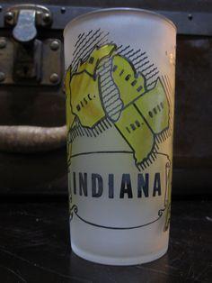 Indiana Hazel Atlas Gay Fad Studios State by LuckySevenVintage, $10.00