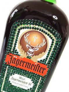 Jagermeister with Emerald Green and Clear Crystals