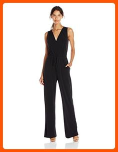 717cf6fd067 BCBGeneration Womens Sleeveless Surplice Jumpsuit Black Medium   Check out  this great product. (This is an affiliate link)