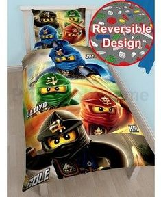 Lego Ninjago Quadrant Single Duvet Cover and Pillowcase Set 2 in 1